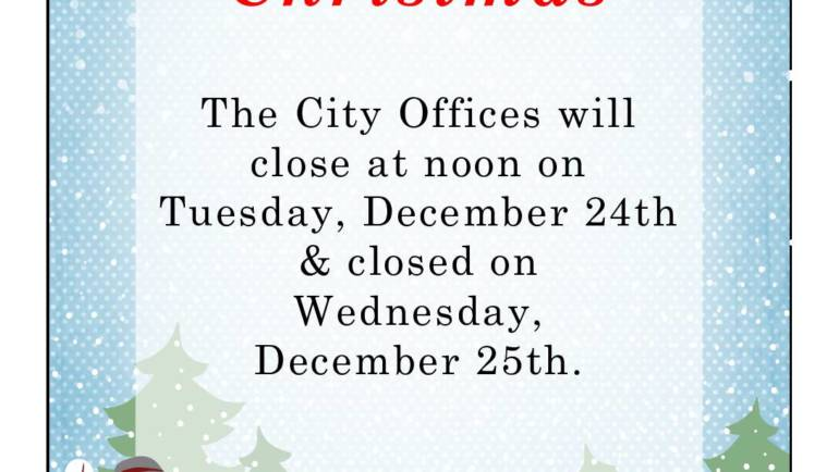 City Offices Holiday Schedule